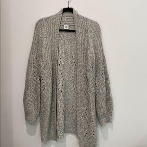 CABI grey long sweater
